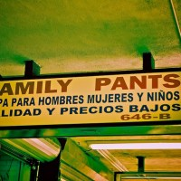 Family Pants - Wearing The Family Pants - Sign in Downtown Los Angeles | Blurbomat.com