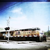Bleached Union Pacific Engine | Blurbomat.com