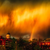 Flaming Sky Rainbow | Blurbomat.com