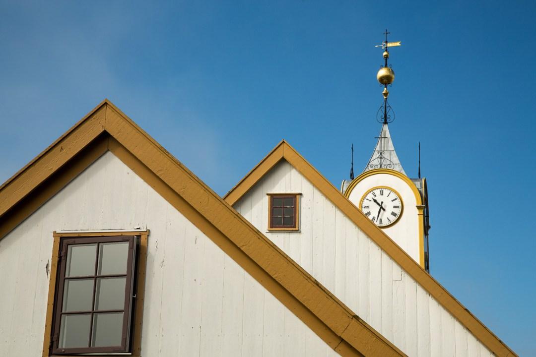 The back side of Torshavn Cathedral