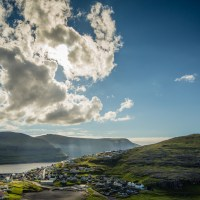 Looking down on the village of Eiði, Faroe Islands. | Blurbomat.com