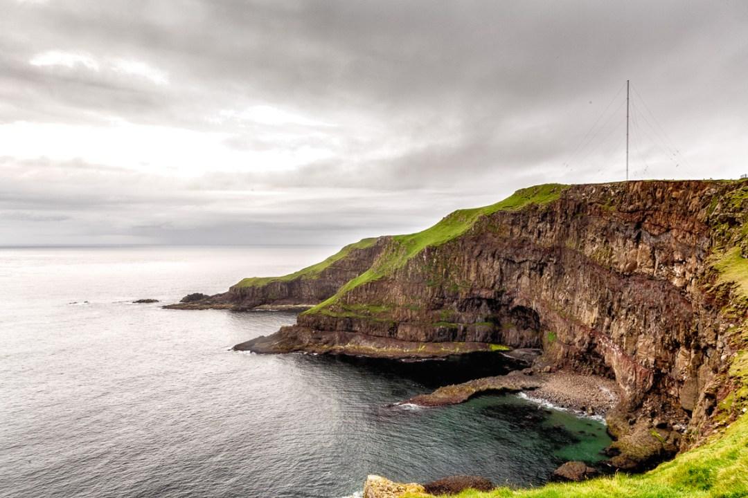 Radio tower near Akraberg, Suduroy, Faroe Islands.
