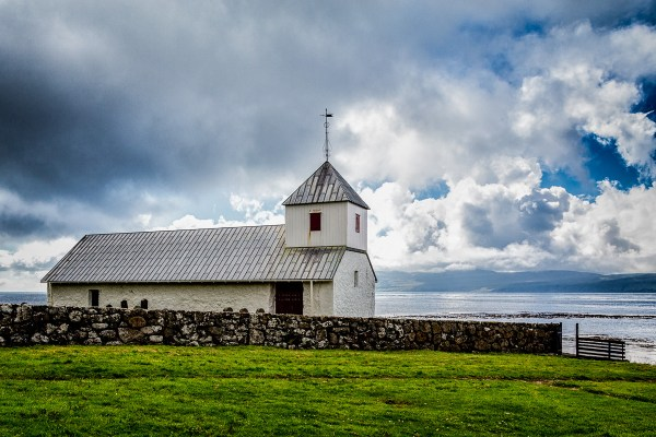 Olav's Church, Kirkjubøur, Faroe Islands.