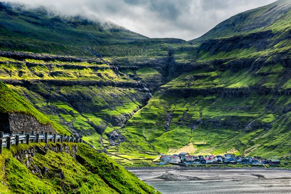The village of Tjornuvik, Faroe Islands.