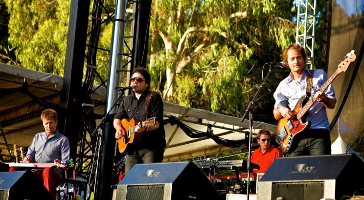 Wilco Front Line - Nels Cline, Jeff Tweedy, John Stirratt - WIlco - Outside Lands, 2008