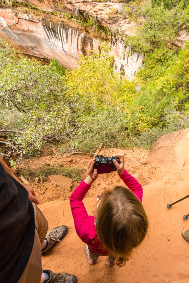 Marlo Shoots on the Emerald Pools Trail