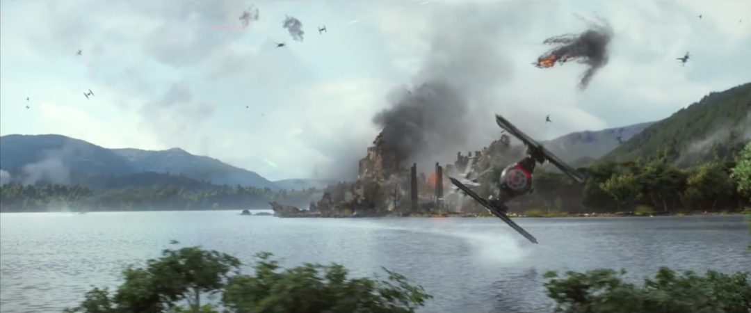Star Wars: TIE Fighter banking close   Blurbomat.com