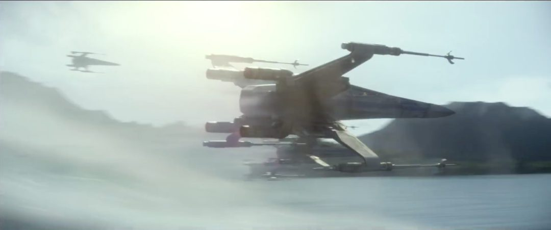 X-Wing fighter in attack position   Blurbomat.com