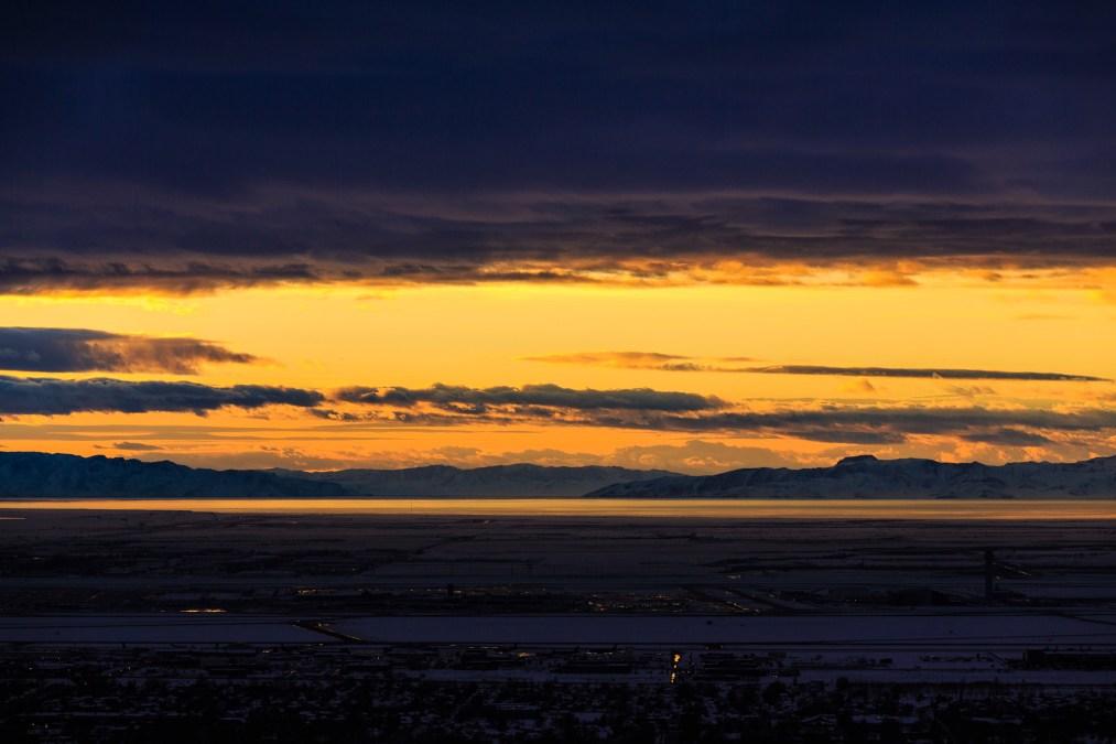 Orange Great Salt Lake