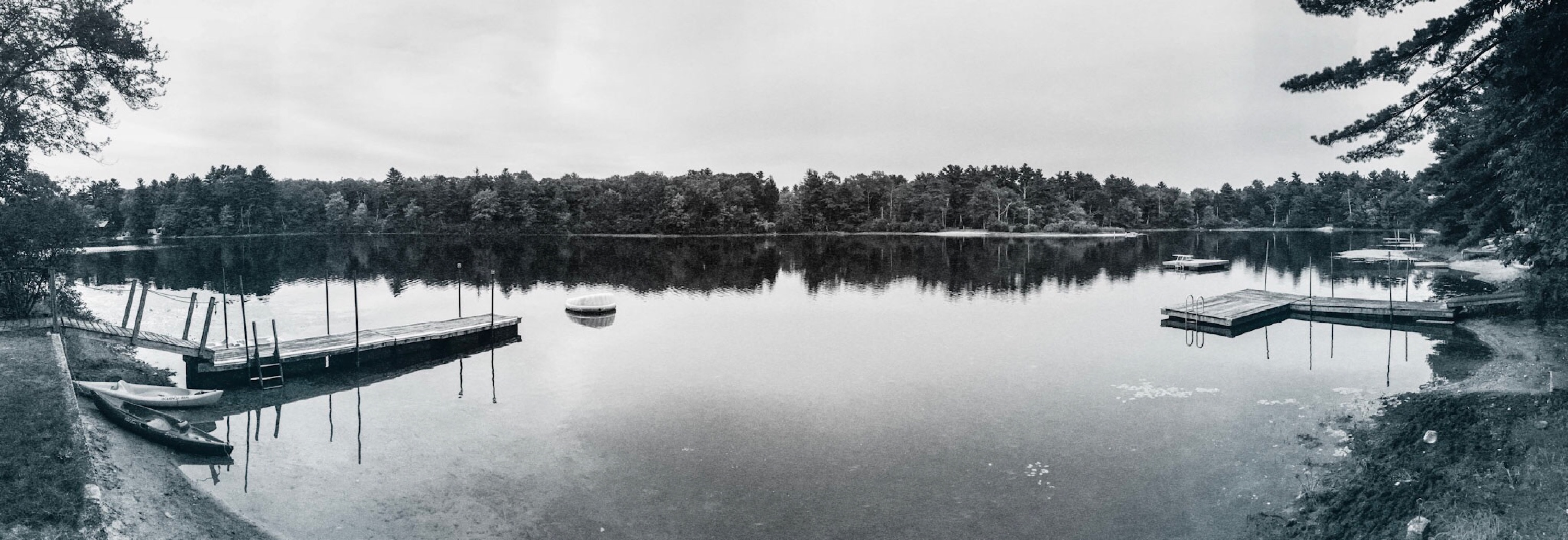 Panoramic Lake at the End of Summer 2016