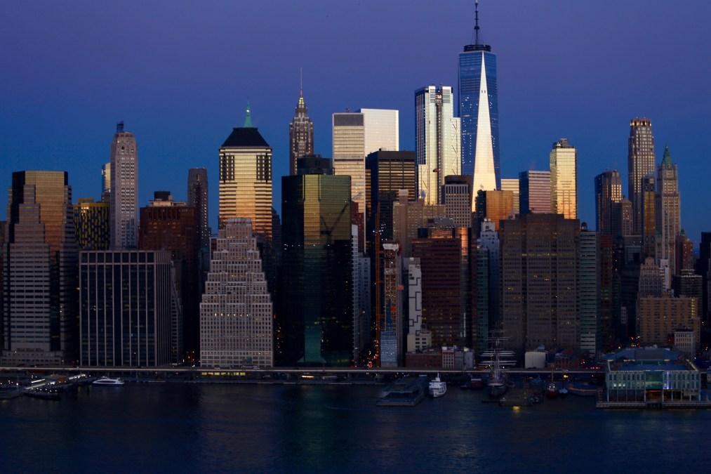 Lower Manhattan Skyline During Sunrise