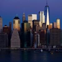 Lower Manhattan Skyline at Sunrise
