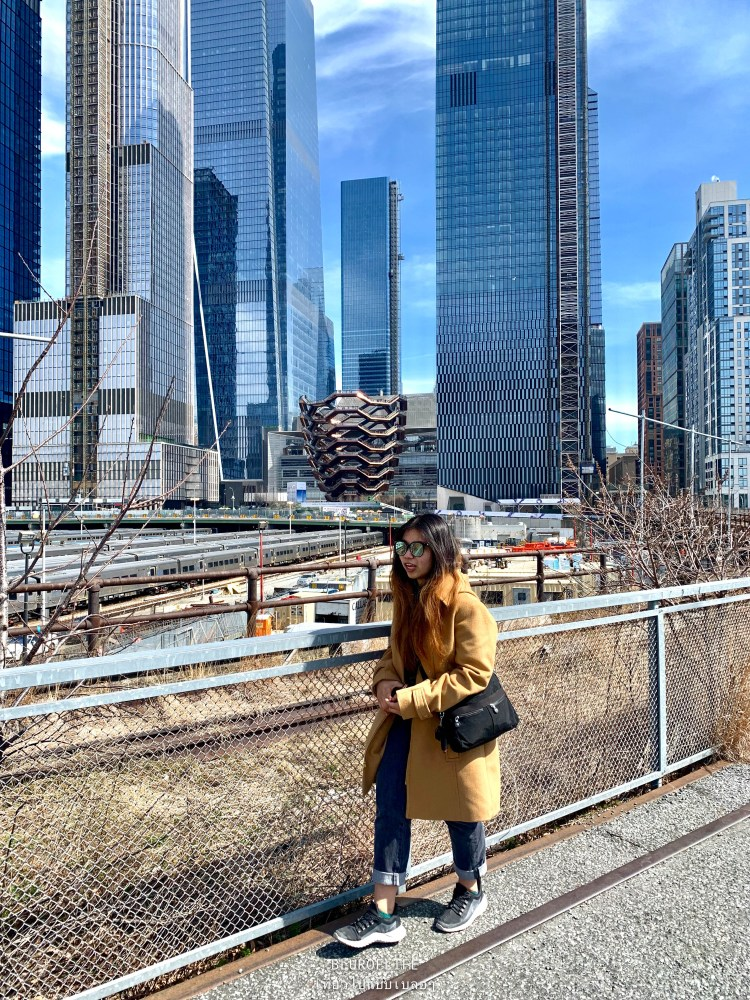 The High Line with the view of Hudson yards