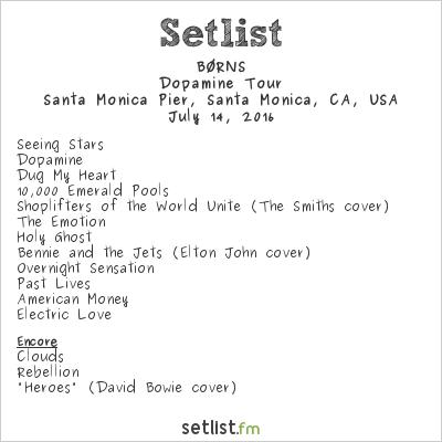 Brns at santa monica piers twilight concert 71416 setlist brns at santa monica piers twilight concert 71416 setlist borns spiritdancerdesigns Images
