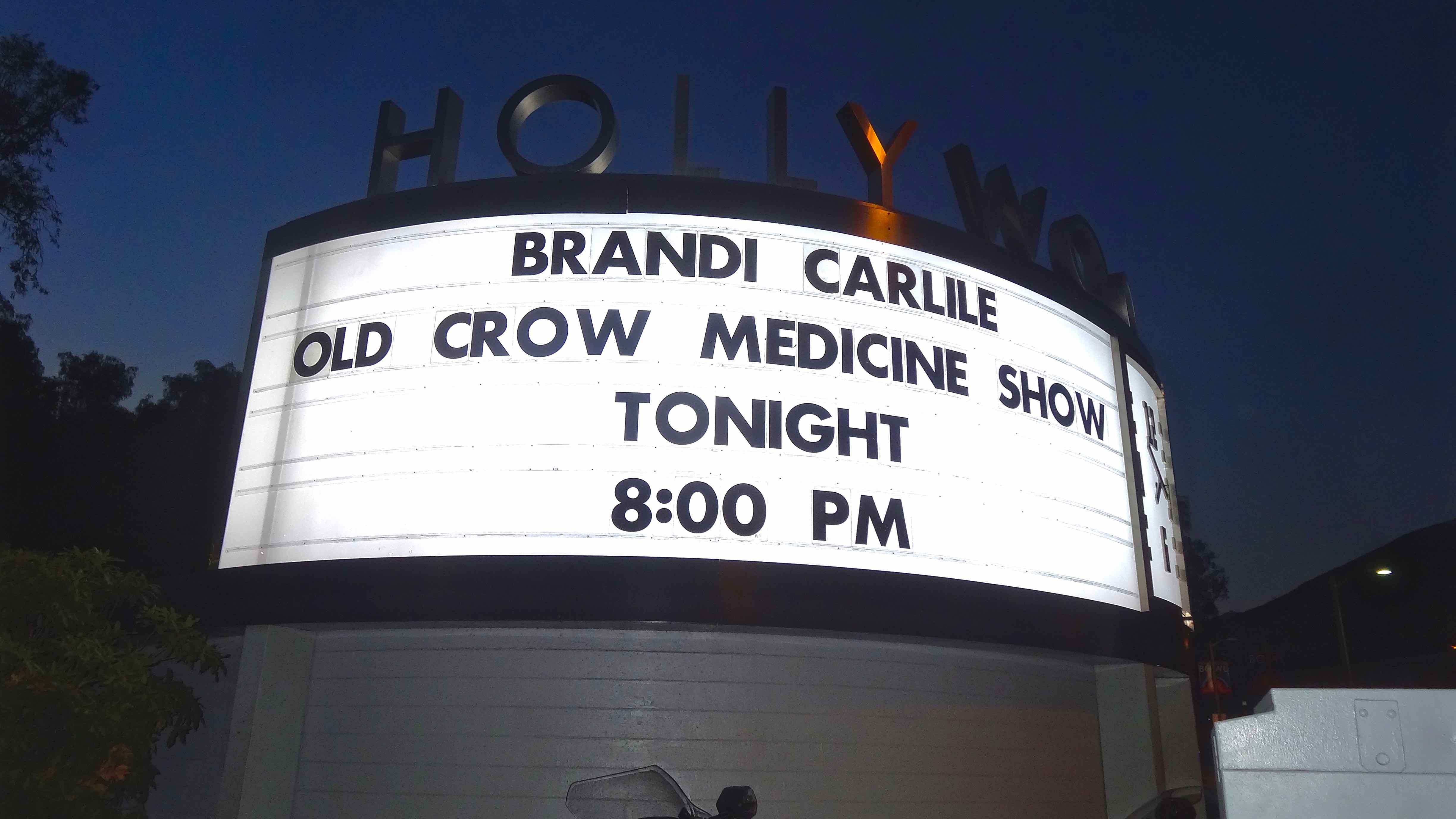 Brandi Carlil & Old Crow Medicine Show at The Hollywood Bowl 8/20/16.