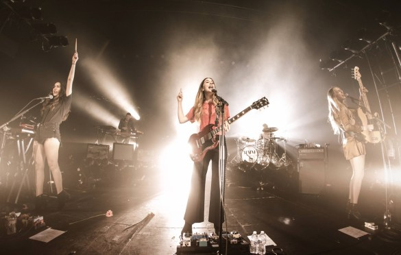HAIM at Fonda Theatre as part of Red Bull Sound Select Presents: 30 Days in LA, in Los Angeles, CA, USA 11/15/16 (Photo by Marv Watson for Red Bull Sound Select). Used With Permission.