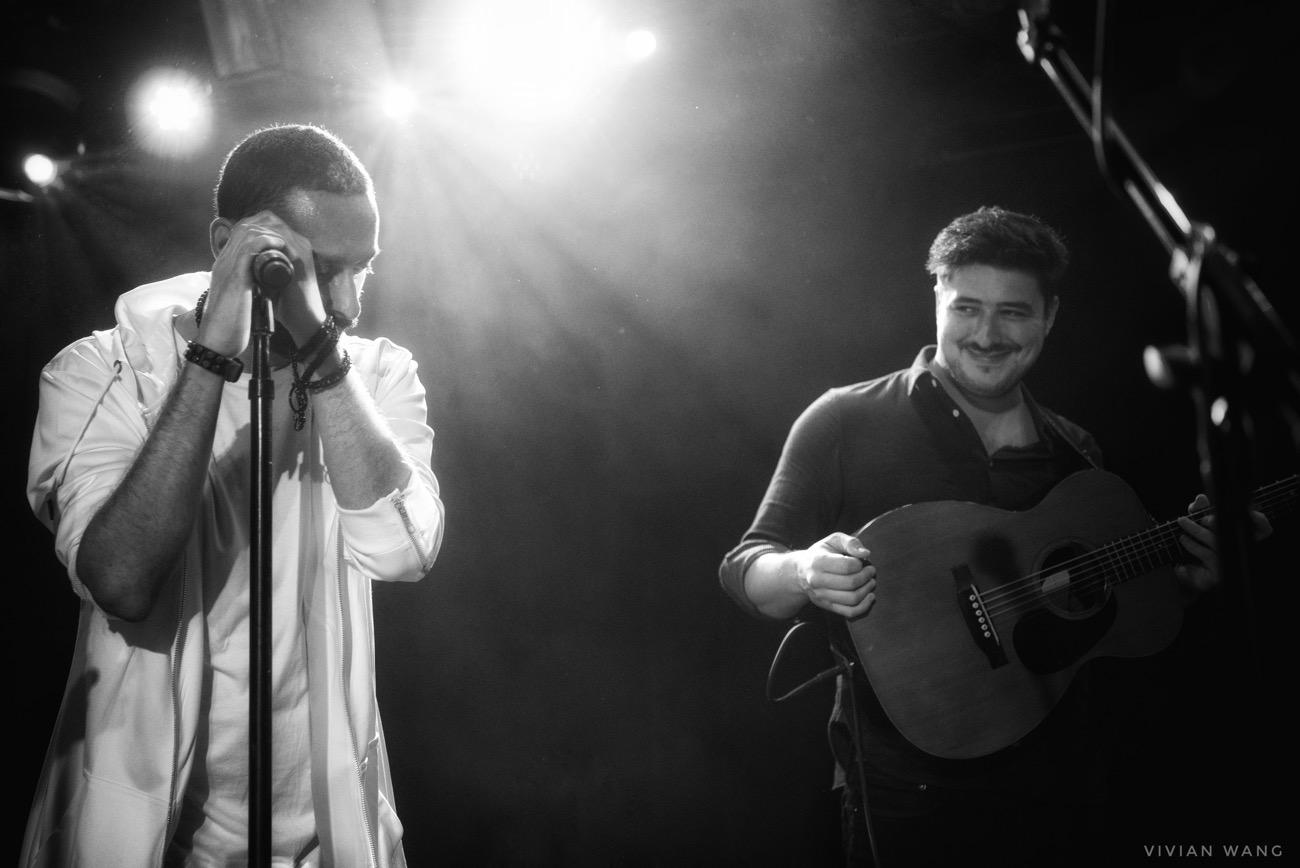 Tamer Nafar & Marcus Mumford @ Le Poisson Rouge 12/5/16. Photo by Vivian Wang (@Lithophyte) for www.BlurredCulture.com.