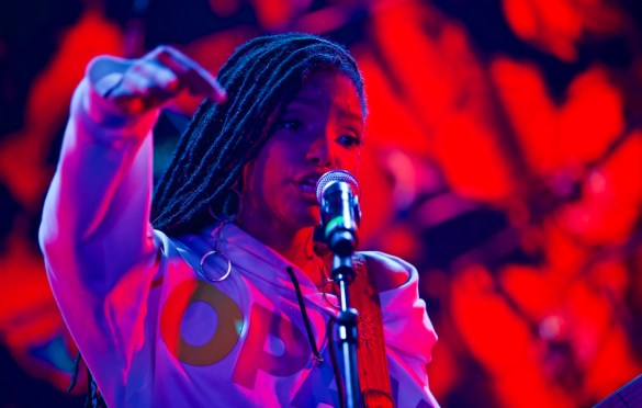 Chloe x Halle // 3/17/2017 at Youtube at Coppertank // SXSW 2017 // Photo by Derrick K. Lee,  Esq. (@Methodman13) for www.BlurredCulture.com.
