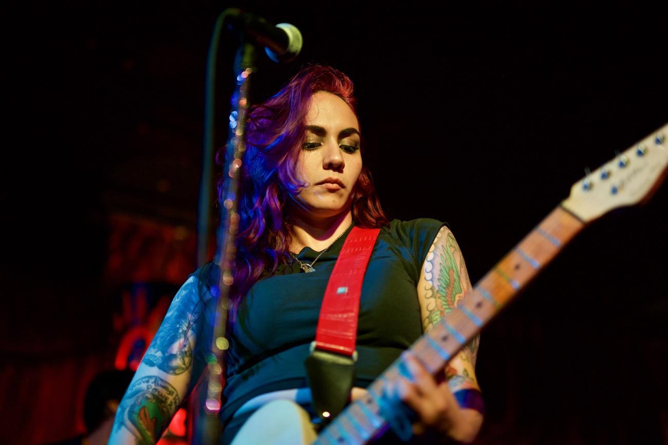 Nina Diaz @ Alex's Bar 6/9/17. Photo by Derrick K. Lee, Esq.(@Methodman13) for www.BlurredCulture.com.