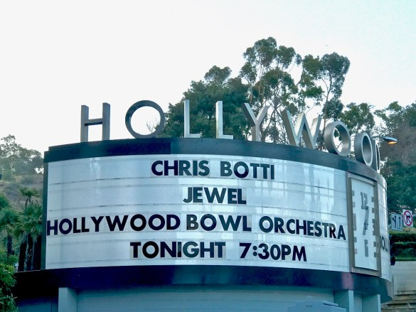 Chris Botti & Jewel @ Hollywood Bowl Marquee