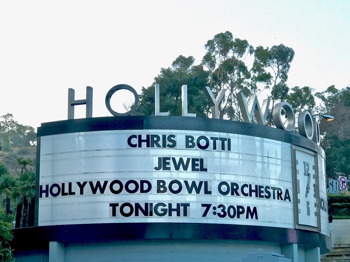 Chris Botti & Jewel @ Hollywood Bowl Marquee