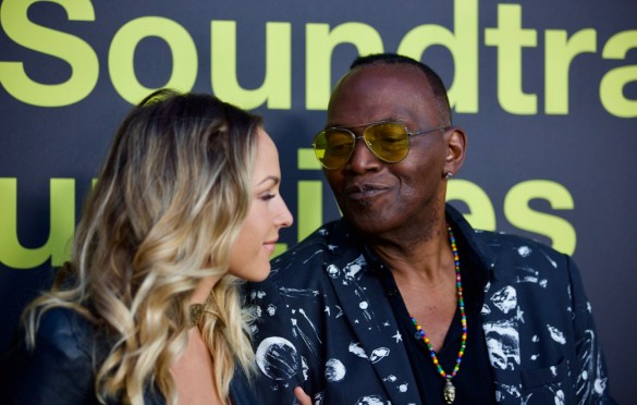 Tiffany Dunn & Randy Jackson on the Red Carpet for