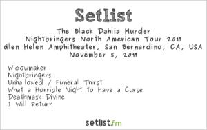 The Black Dahlia Murder @ Ozzfest Meets Knotfest 11/5/17. Setlist.