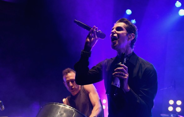 LOS ANGELES, CA - DECEMBER 08: Stephen Perkins and Perry Farrell of Jane's Addiction performs onstage during the 2017 Rhonda's Kiss Benefit Concert at Hollywood Palladium on December 8, 2017 in Los Angeles, California.  (Photo by Emma McIntyre/Getty Images for Rhonda's Kiss). Used with permission.