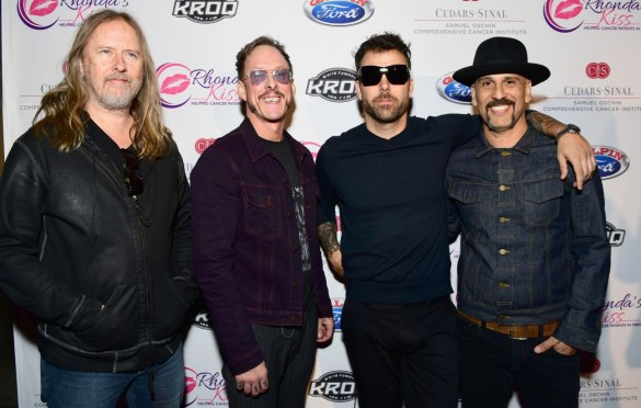 LOS ANGELES, CA - DECEMBER 08: (L-R) Jerry Cantrell, Scott Shriner, Franky Perez and Dave Kushner of Hellcat Saints attend the 2017 Rhonda's Kiss Benefit Concert at Hollywood Palladium on December 8, 2017 in Los Angeles, California.  (Photo by Emma McIntyre/Getty Images for Rhonda's Kiss). Used with permission.