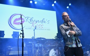LOS ANGELES, CA - DECEMBER 08: Greg Behrendt speaks onstage during the 2017 Rhonda's Kiss Benefit Concert at Hollywood Palladium on December 8, 2017 in Los Angeles, California. (Photo by Emma McIntyre/Getty Images for Rhonda's Kiss). Used with permission.
