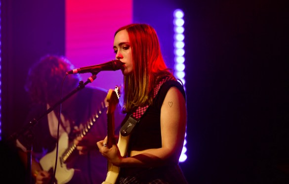 Soccer Mommy for Girlschool @ Bootleg Theatre 2/4/18. Photo by Derrick K. Lee, Esq. (@Methodman13) for www.BlurredCulture.com.