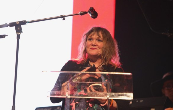 Exene at the She Rock Awards at the House of Blues, Anaheim 1/26/18. Photo by Kevin Graft. Used with permission.