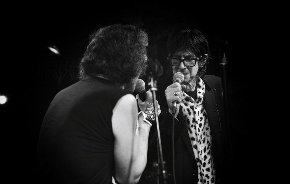 Martin Rev & Ric Ocasek for Alan Vega's Tribute @ Bowery Electric 1/25/18. Photo by Vivian Wang (@Lithophyte) for www.BlurredCulture.com.