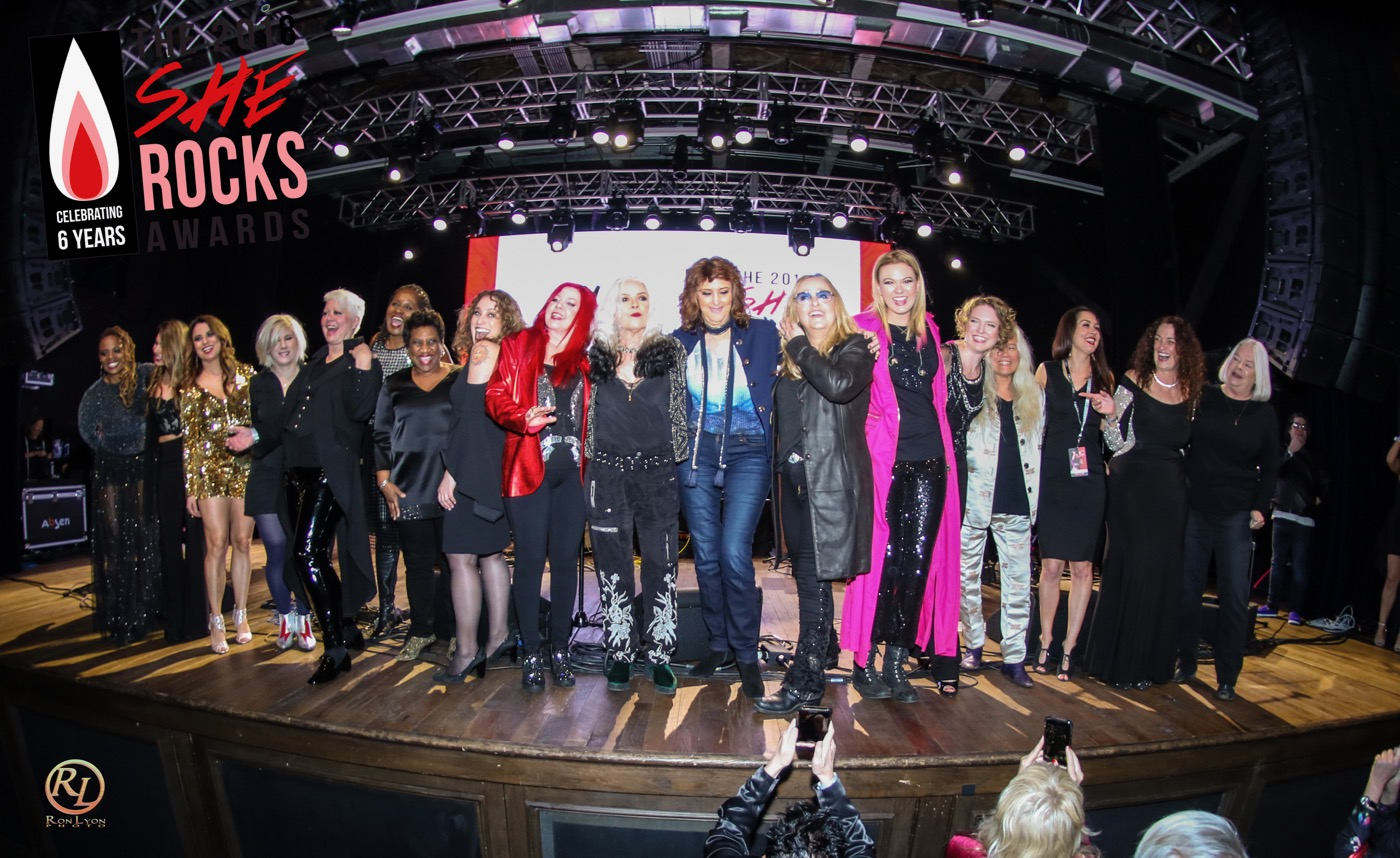 Finale at the She Rock Awards at the House of Blues, Anaheim 1/26/18. Photo by Ron Lyon. Used with permission.