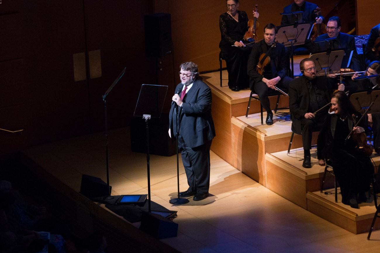 "Director Guillermo Del Toro during ""The Oscar Concert"" presented by the Academy of Motion Picture Arts and Sciences on Thursday, February 28, at the Walt Disney Concert Hall in Los Angeles. The Oscars® will be presented on Sunday, March 4, 2018, at the Dolby Theatre® in Hollywood, CA and televised live by the ABC Television Network. Photo by Paul Hebert/ (C) A.M.P.A.S. Used with permission."