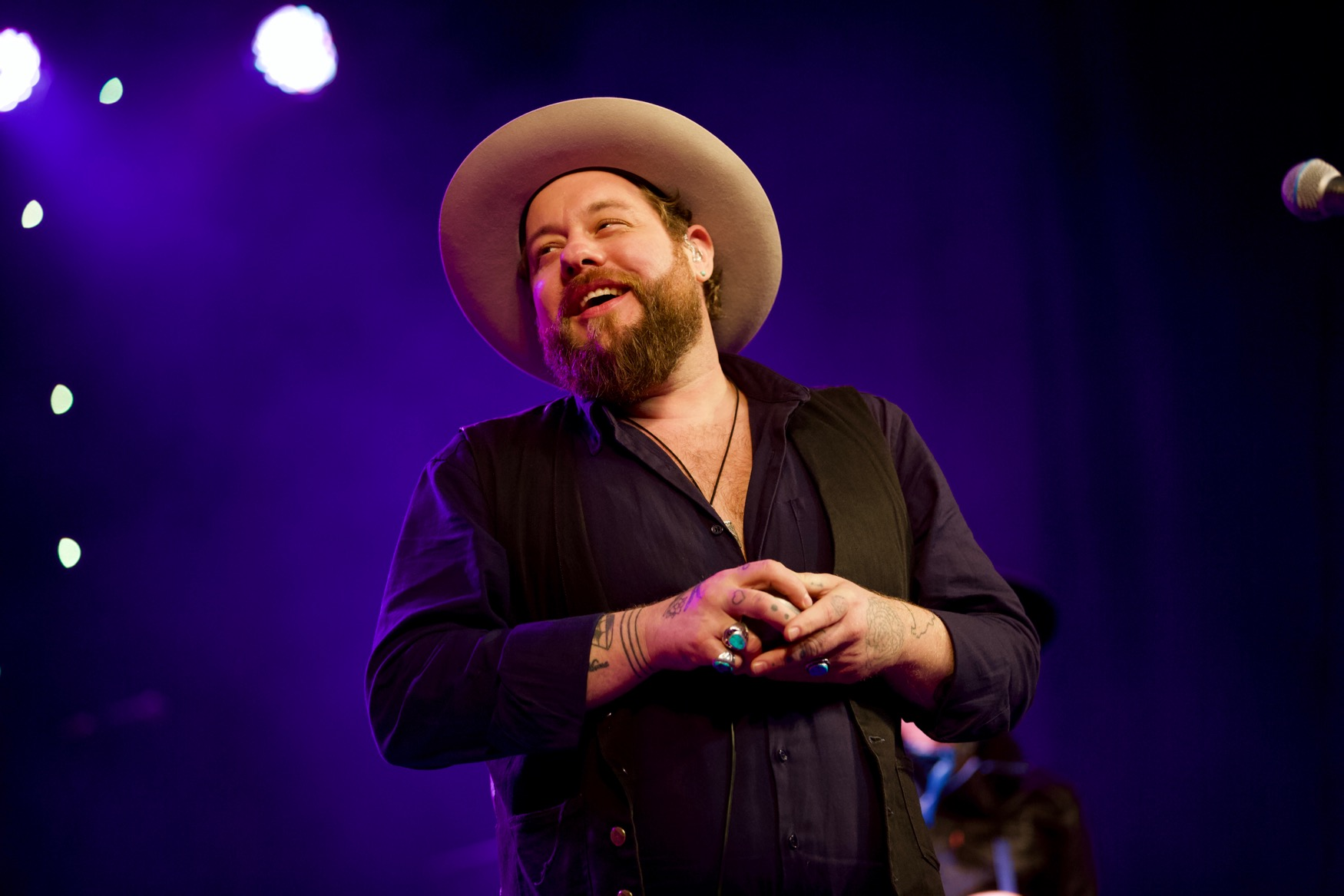 Nathaniel Rateliff @ Luck Reunion 3/15/18. Photo by Derrick K. Lee, Esq. (@Methodman13) for www.BlurredCulture.com.