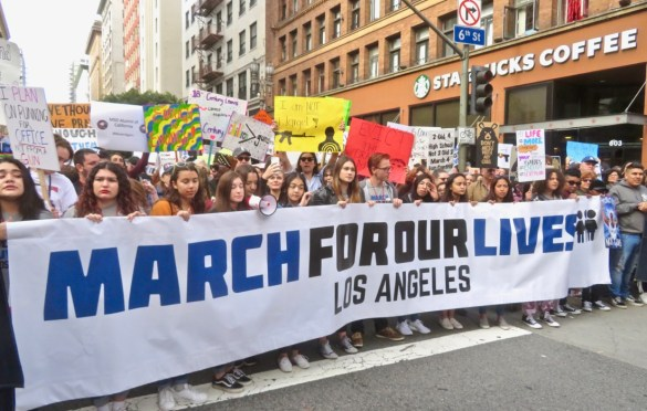 March For Our Lives, Los Angeles. Photo by Peter Malek (@Goosee9). Used with permission. www.BlurredCulture.com.