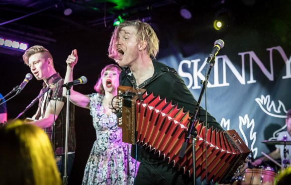 Skinny Lister @ Underground Arts 3/11/18. Photo by Pat Gilrane Photo (@njpatg) for www.BlurredCulture.com.