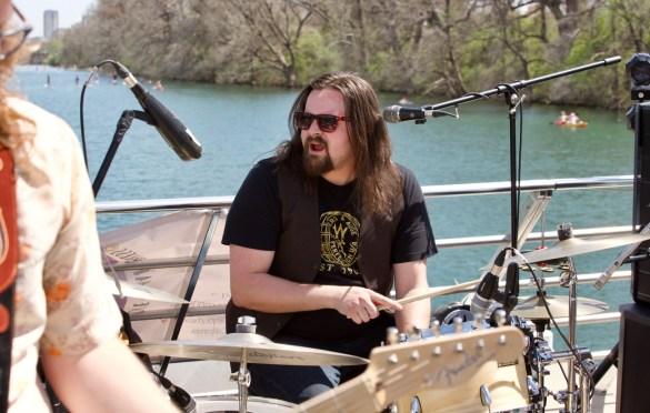 Jamie Kent on his New Nashville Riverboat Showcase during SXSW 3/16/18. Photo by Derrick K. Lee, Esq. (@Methodman13) for www.BlurredCulture.com.