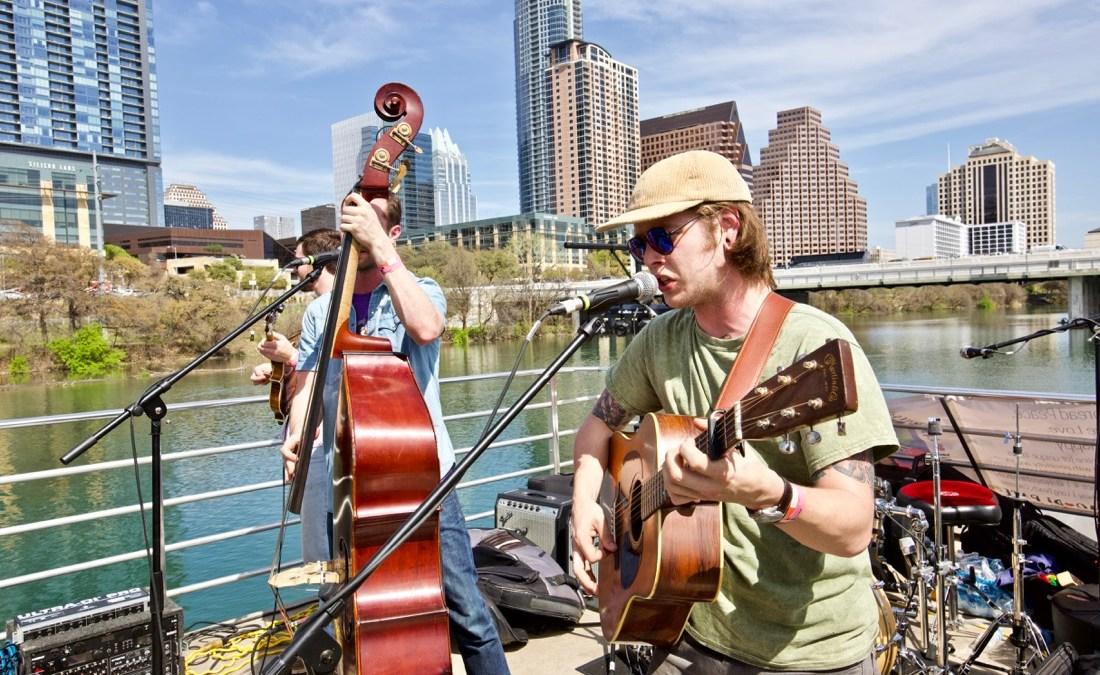 Billy Strings on Jamie Kent's New Nashville Riverboat Showcase during SXSW 3/16/18. Photo by Derrick K. Lee, Esq. (@Methodman13) for www.BlurredCulture.com.