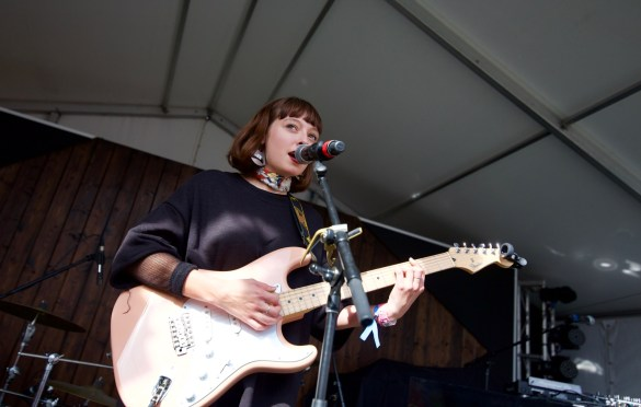 Stella Donnelly @ Lustre Pearl during SXSW 3/13/18. Photo by Derrick K. Lee, Esq. (@Methodman13) for www.BlurredCulture.com.