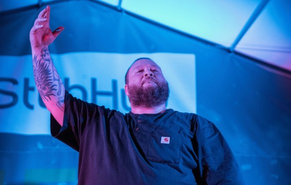 Action Bronson @ Bangers for SXSW 3/15/18. Photo by Mike Golembo (@Instalembo) for www.BlurredCulture.com.