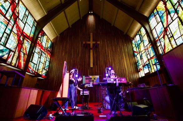 Saint Sister @ Central Presbyterian Church for SXSW 3/14/18. Photo by Derrick K. Lee, Esq. (@Methodman13) for www.BlurredCulture.com.