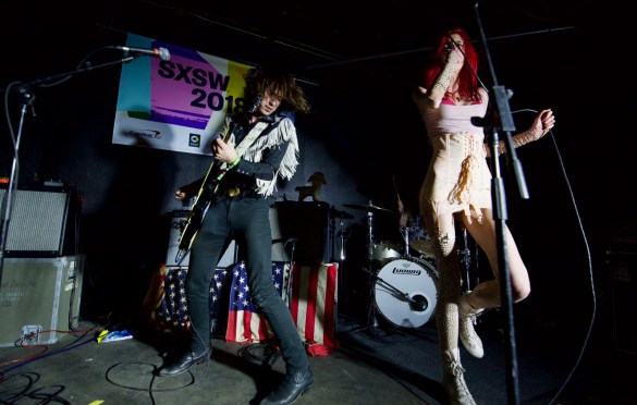 Starcrawler @ The Main II during SXSW 3/13/18. Photo by Derrick K. Lee, Esq. (@Methodman13) for www.BlurredCulture.com.