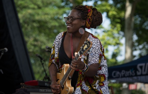 Melissa Laveaux @ SummerStage, Central Park, Rumsey Playfield, Manhattan 7/1/18. Photo by Vivian Wang (@Lithophyte) for www.BlurredCulture.com.