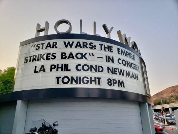 """Star Wars: The Empire Strikes Back""- In Concert w/ Los Angeles Philharmonic conducted by David Newman 8/11/18."