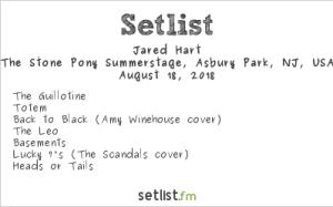 Jared Hart @ Stone Pony 8/18/18. Setlist.