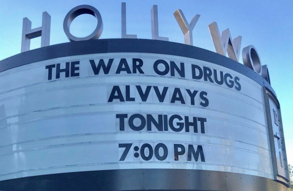 The War on Drugs and Alvvays at the Hollywood Bowl 9/16/18. Concert Marquee.