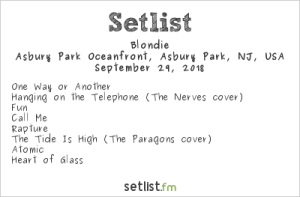 Blondie @ Sea.Hear.Now 2018 9/29/18. Setlist.