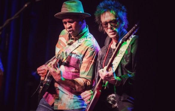 Vernon Reid & Earl Slick for A Bowie Celebration @ Irving Plaza 3/5/19. Photo by Vivian Wang (@Lithophyte) for www.BlurredCulture.com.
